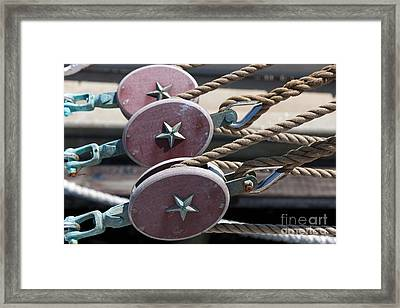 Nautical Blocks I Framed Print by Clarence Holmes