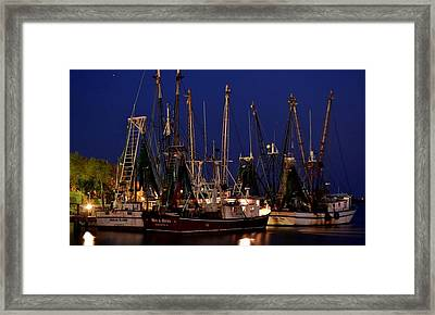 Nautical Blue Framed Print