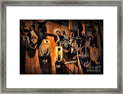 Nautical - Boat - Block And Tackle  Framed Print by Paul Ward