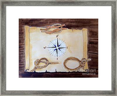 Framed Print featuring the painting Nautical by Eva Ason