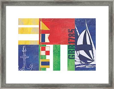 Nautical Flair I Framed Print by Paul Brent