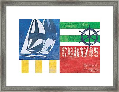 Nautical Flair II Framed Print by Paul Brent