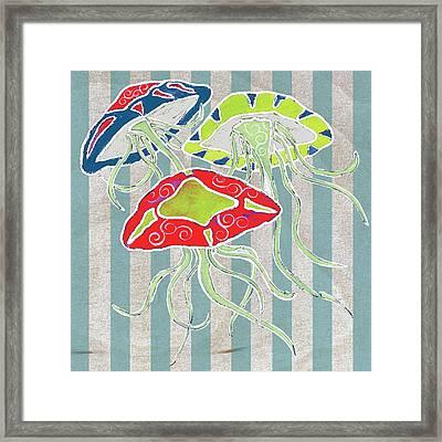 Nautical-jellyfish Framed Print by Shanni Welsh
