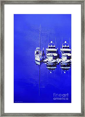 Nautical Reflections Framed Print by MaryJane Armstrong