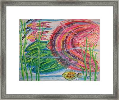 Nautical Rush Hour Framed Print by Diane Pape