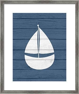 Nautical Sailboat Framed Print