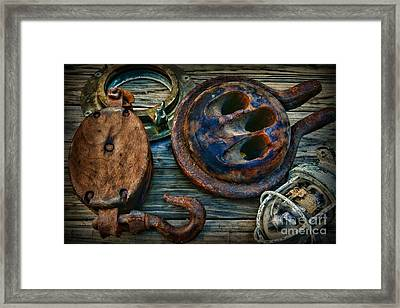 Nautical - Sailing Essentials Framed Print