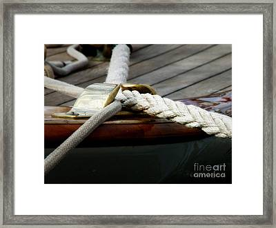 Nautical Textures Framed Print by Lainie Wrightson