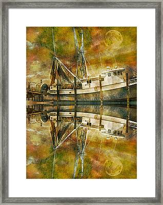 Nautical Timepiece Framed Print by Betsy Knapp