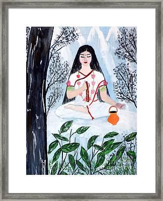 Nava Durga Brahmacharini Framed Print by Pratyasha Nithin