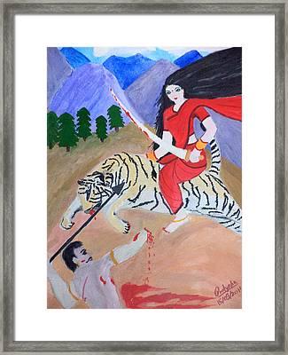 Nava Durga Kaatyayani Framed Print by Pratyasha Nithin