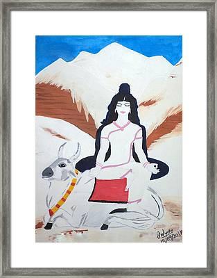 Nava Durga Mahagauri Framed Print by Pratyasha Nithin