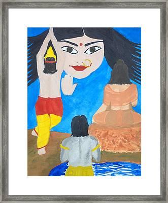 Nava Durga Siddhidaatri Framed Print by Pratyasha Nithin