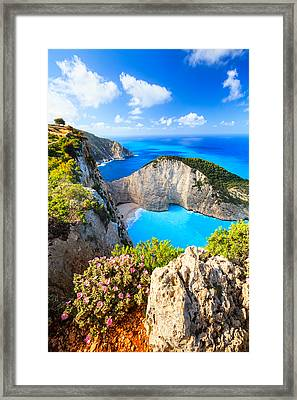 Navagio Bay Framed Print