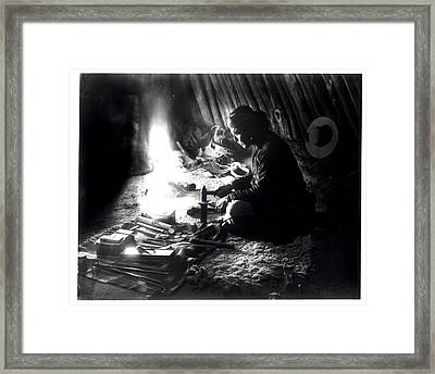 Navaho Silversmith Framed Print by William J Carpenter