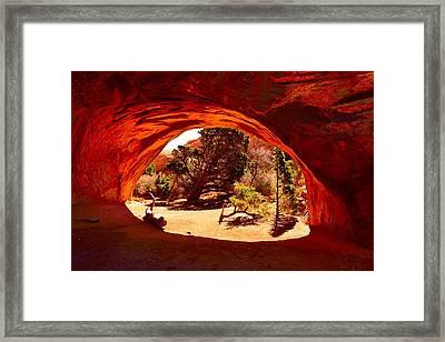 Navajo Arch Framed Print