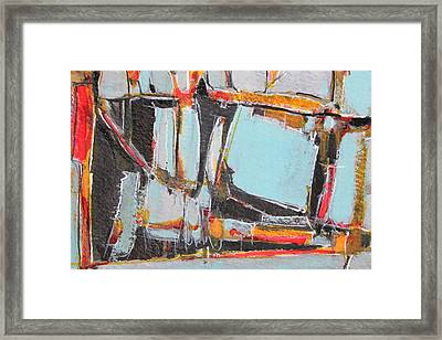 Navajo Blanket And Morning Sky Framed Print by Hari Thomas