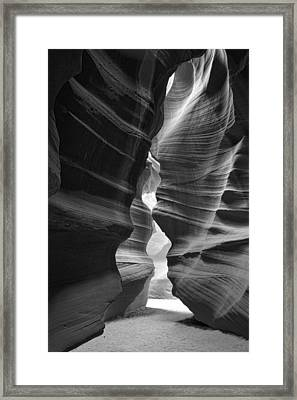 Antelope Canyon Black And White Framed Print