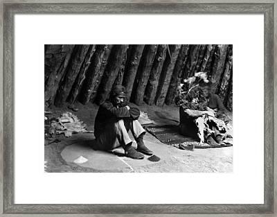 Navajo Ceremony, C1906 Framed Print