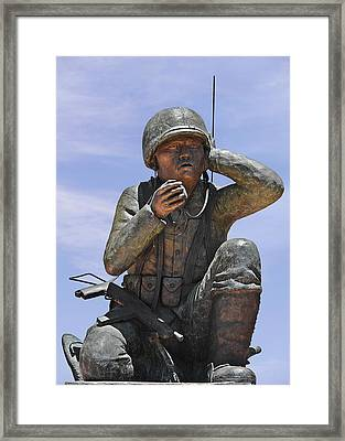 Navajo Code Talkers - Navajo People Framed Print