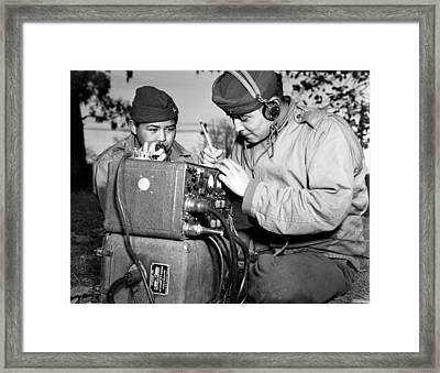 Navajo Code Talkers Training Framed Print by Everett