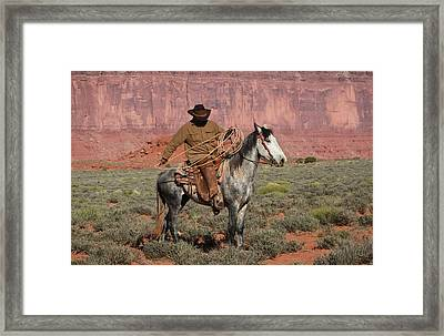 Navajo Cowboy Framed Print