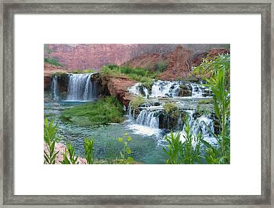 Framed Print featuring the photograph Navajo Falls by Alan Socolik