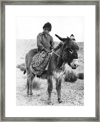 Navajo Herder Framed Print by Underwood Archives