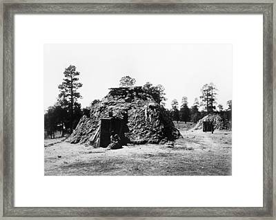 Navajo Hogan, C1905 Framed Print