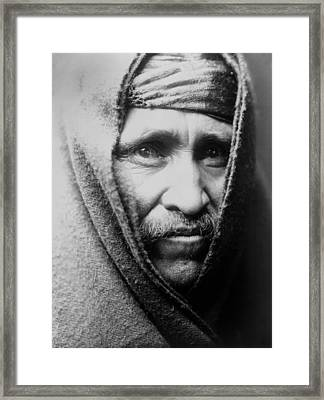Navajo Indian Man Circa 1905 Framed Print