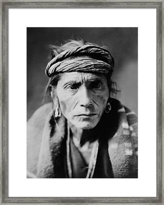 Navajo Man Circa 1905 Framed Print by Aged Pixel