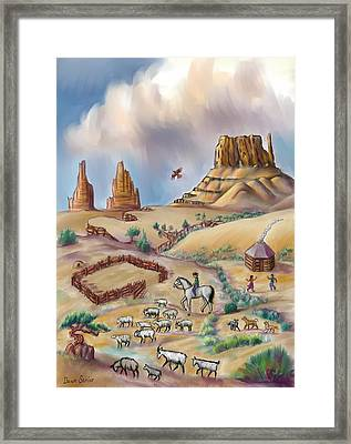 Navajo Sheepherder - Age 11 Framed Print by Dawn Senior-Trask