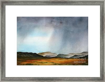 Navajo Storm Framed Print