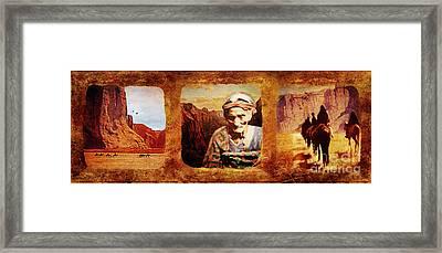 Navajo Triptych  Framed Print