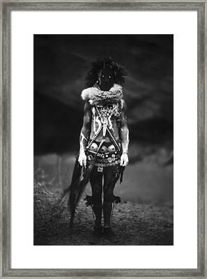 Navajo Warrior Circa 1904 Framed Print by Aged Pixel