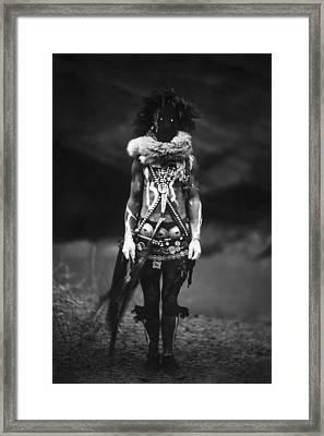 Navajo Warrior Circa 1904 Framed Print by Aged Pixel