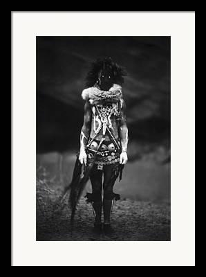 Male Native American Standing Framed Prints