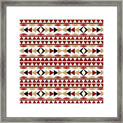 Navajo White Pattern Framed Print