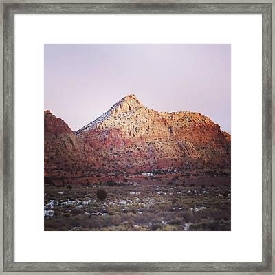 Navajo Winter Framed Print by Jake Harral