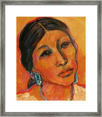 Navajo Woman Framed Print