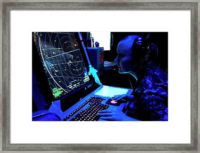 Naval Air Traffic Control Framed Print by Us Air Force/gretchen M. Albrecht