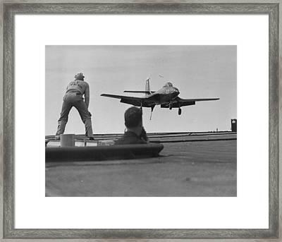 Naval Banshee Jet Plane Framed Print