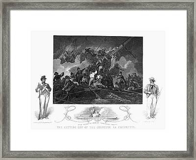 Naval Battle 1801 Framed Print by Granger