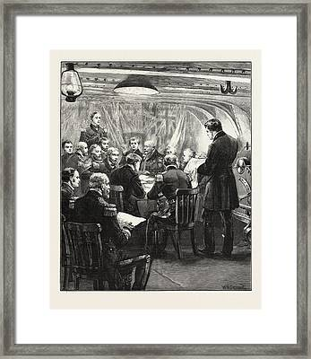 Naval Court-martial On Board H.m.s. Swiftsure Framed Print by English School
