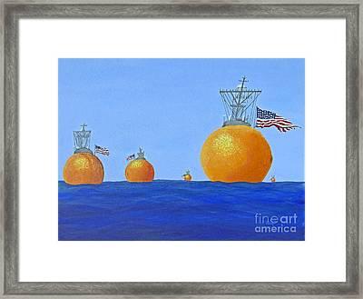 Naval Oranges Framed Print by Cindy Lee Longhini
