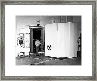 Naval Research Laboratory Cyclotron Framed Print by Naval Research Laboratory, Courtesy Emilio Segre Visual Archives, Physics Today Collection/american Institute Of Physics