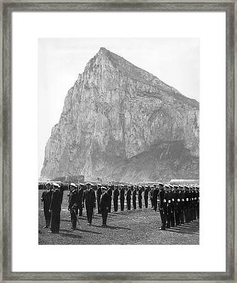 Naval Review At Gibraltar Framed Print by Underwood Archives