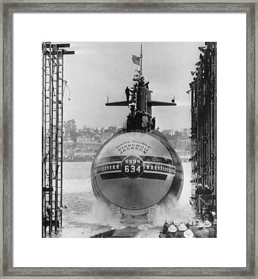 Naval Submarine Framed Print by Retro Images Archive