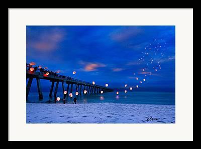 Navarre Beach Framed Prints