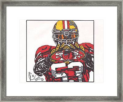 Navorro Bowman Framed Print by Jeremiah Colley